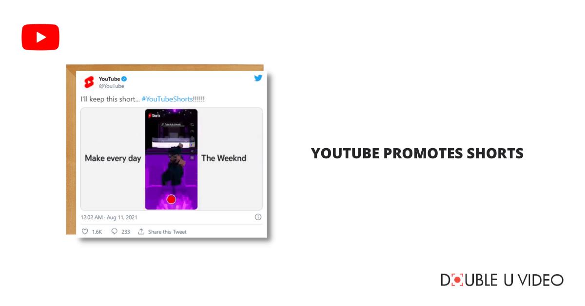 YouTube Promotes Shorts